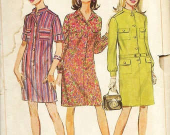 Simplicity 7247 Misses Step In Dress In Two Lengths, Sewing Pattern, Size 12, Bust 32