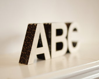 """2.5"""" tall Free-Standing Cardboard Letters & Numbers"""