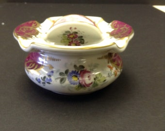 Vintage (Antique?) Limoges Ashtray with Spinner centerpiece