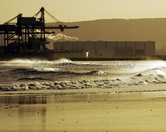 River Tees Redcar Printable Photograph Instant Download 12mp image #3