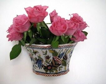 Rouen earthenware wall planter