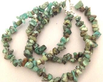 Turquoise Nuggets Bracelet - Genuine Gemstone
