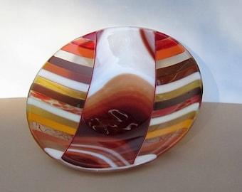 Sedona Red Rock Rust Fused Glass Bowl