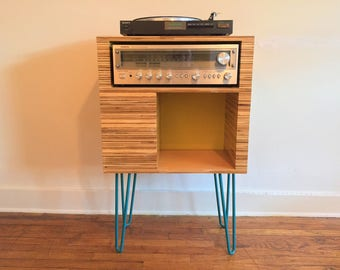 Modern Plywood Console with Hairpin Legs