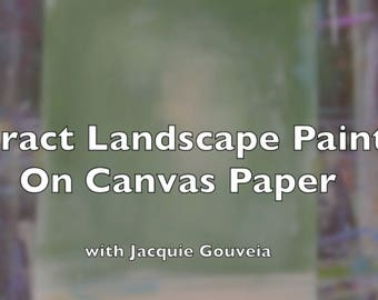 Learn how to paint VIDEO Tutorial Abstract Landscape Painting, Painting Lesson, Learn to Paint, How to Paint, Step by Step, DIY Arts Crafts