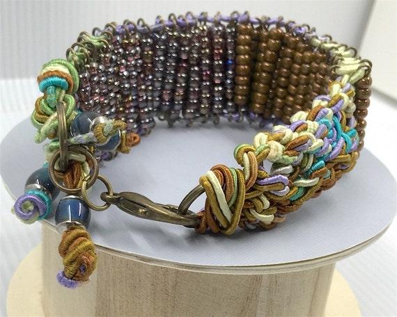 Items Similar To Macrame Beaded Bracelet Size 7 Quot Inch