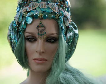 READY TO SHIP mermaid queen siren empress royalty goddess headpiece headdress