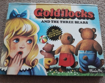 Goldilocks and the three bears vintage/retro pop up book 1982