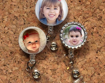 CUSTOM PHOTO Badge Reel, Personalized with your own Photo, Lanyard, Badge Clip, Carabiner, Stethoscope Tag, ID Holder, Mylar