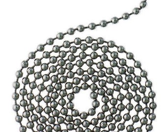 3 Feet Chrome Beaded Chain for Ceiling Fans and Lighting