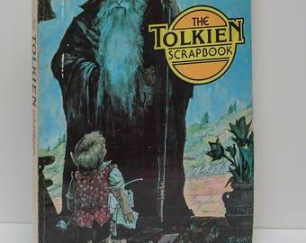 """Book Nerd Gift """"The Tolkien Scrapbook"""" Large Illustrated Paperback Early Printing 191 p. Hobbit Lord of the Rings Middle Earth LOTR Poetry"""