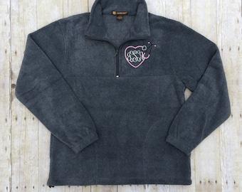 Monogram Nurse Sweatshirt | Monogram RN Fleece Quarter Zip | Monogram Quarter Zip Jacket | Monogram Sweatshirt | Monogram Nurse Pullover