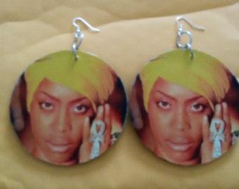 Large Erykah badu earrings big