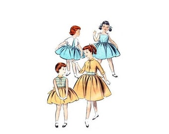 SALE 1950s Little Girls Jacket and Dress Butterick 8011 Vintage Sewing Pattern Size 2