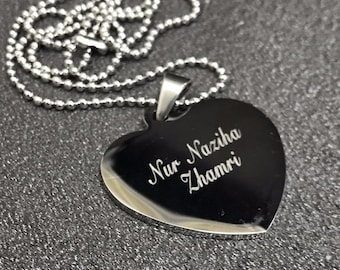 Engraved Heart Necklaces Unique Gifts Women (RE 22)