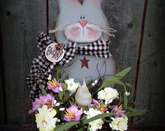 K216 Baby Bunny Spring Light Wood Pattern