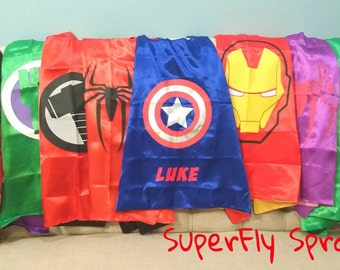 One (1) Superhero Cape (Ironman, Spiderman, Captain America, Spidergirl, Hulk, Thor, Avengers, MORE!) 30+ Styles