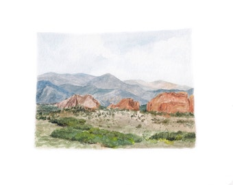 Colorado Art Print, Colorado Print, Colorado State PRINT, Colorado Map, Colorado State Art, Colorado Watercolor Landscape, Custom State Art