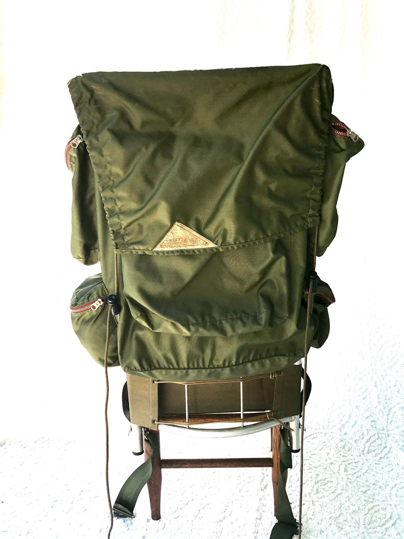Jahrgang KELTY Außenrahmen Rucksack Vintage Armeegrün KELTY