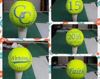 Embroidered Softballs