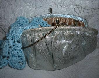 SALE  Vintage Silver Handbag