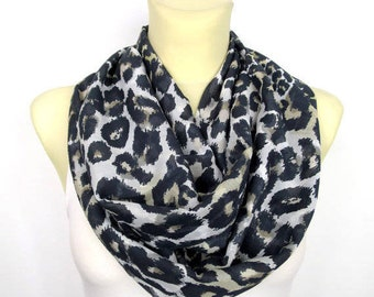 Leopard Print Scarf Animal Print Scarf Brown Leopard Scarf Printed Scarves Spring Scarf Inspirational Women Gift Mom from Daughter from Son