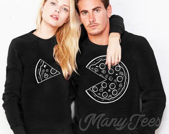 Couples sweaters couples sweatshirts couples outfits couples matching outfits pizza sweatshirt hoodie pizza sweater pizza lover gift pizza