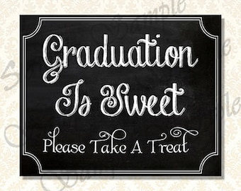 Graduation Is Sweet Candy Bar Sign Class of 2018 Graduation