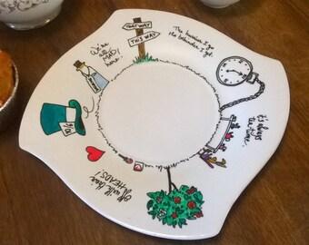 Little serving plate - Alice's Adventures in Wonderland (multi quotes)