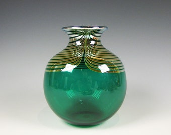 Contemporary Art Glass Vase by Correia  dated 1983