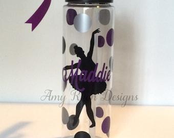 Ballet Tritan Water Bottles, Personalized Ballet Water Bottle, Custom Ballet Water Bottle, Personalized Ballet Gift, Ballet Dancer Gift
