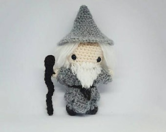 Handmade Crochet Gandalf the Grey Figure plushie