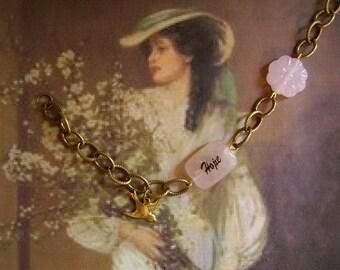 Espoir Avec Plume Bracelet