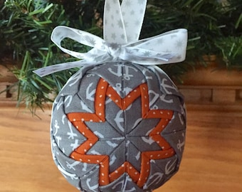 Anchor Christmas Quilted Ornament