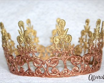 New Rose Gold crown Cake topper / Rose Gold Crown Cake Topper / Cake Topper Photo Prop / Gold & Rose Gold cake topper/ MADE IN USA.