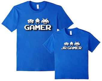 Father Son Shirts Gamer, Father Son Matching Shirts, Dad Son Matching, Daddy and Son Matching Shirts, Daddy and Son, Dad and Son Shirts