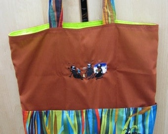 Ant Picnic Summer Tote, Eco Friendly, Purse, Bag Embroidered