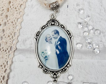 Custom Bouquet Charm, Bouquet memorial photo Charm, Custom Photo, Vintage Style Bridal Charm, Bridal Bouquet Charm, Custom Photo Pendant