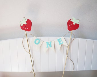 Strawberry Cake Topper