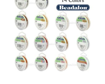 Beadalon 7 Strand (8 Sizes - 14 COLORS) Stainless Steel Flex Beading Wire (30ft Spools)