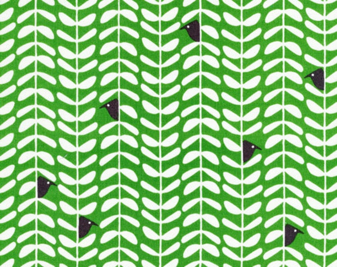 Organic Cotton Fabric - Cloud9 Fabrics Yoyogi Park - Peeking Green