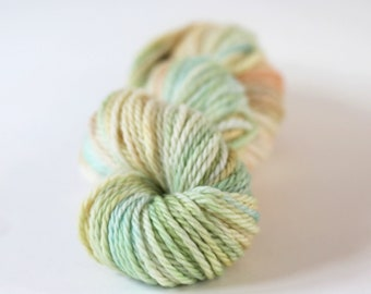 "Hand dyed Yarn Superwash Merino ""Hadley"" Bulky 'Powdered Sugar' Swoon Fibers"