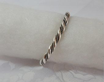 Silver Bracelet, Southwest Jewelry, Native American, Cuff Style, Vintage