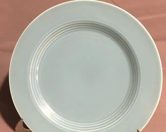 "Vintage Harlequin Turquoise Ceramic Dinner Plate 10"" diameter"