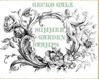 Summer Garden Digital Stamp Set