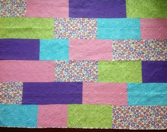 Hot Pastels Big Block Quilt