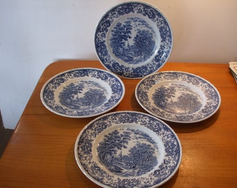 Royal Tudor Ware Olde England 4 x dinner plates