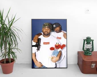 "Raekwon Supreme Poster - Corey Woods American Rapper Print - Singer Art Print - Supreme Print - Supreme Gift - Size 13x20"" 24x36"""