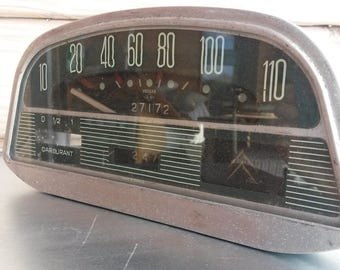 Speedometre, Citroen Ami, French Automobile, 1960 Car Parts, Car Collectibles, Vintage Dashboards