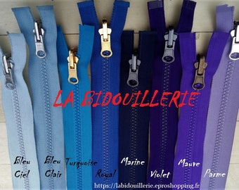 Zip up reversible separable injects Blue Navy purple violet turquoise purple royal sky...